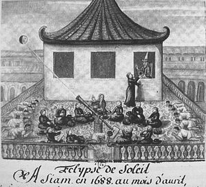 Pierre d'Espagnac - The Jesuits observing an eclipse with king Narai in April 1688, shortly before the outbreak of the Siamese revolution.