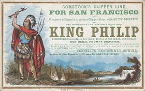 King Philip (clipper) - Advertisement poster for King Philip