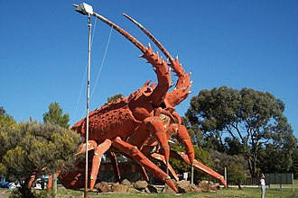 Kingston SE - Lobster sculpture located at the entrance to the town