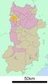 Kitakatsuragi District in Nara prefecture Ja.png