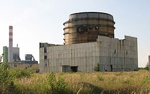 Nuclear power in Germany - The ruins of the incomplete Stendal NPP reactor building