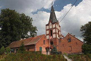 Klebark Wielki Village in Warmian-Masurian Voivodeship, Poland