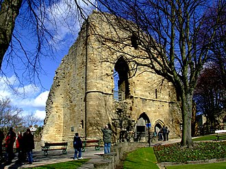 Knaresborough Castle - The ruins of the keep of Knaresborough Castle.