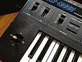 Korg DW-8000 - panel 1 joystick, volume, tune, arrpeggiater.jpg