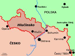 Hlučín Region - Map of the Hlučín Region