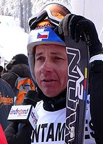 Tomáš Kraus at the 2010 Ski Cross World Cup in Les Contamines-Montjoie