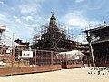 Krishna Mandir and nearby structures under renovation.jpg