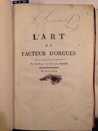 Dom Bédos de Celles - Image: L'art du facteur d'orgues 01