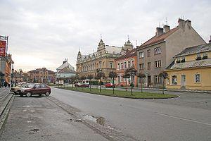 Lázně Bělohrad - Image: Lázně Bělohrad náměstí