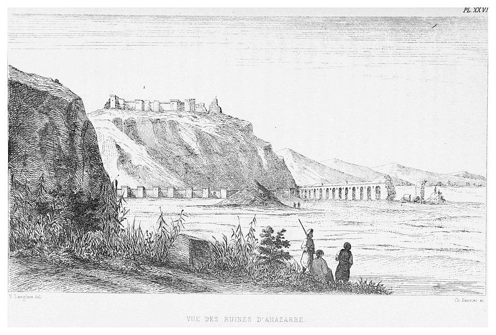 LANGLOIS(1861) p507 - VUE DES RUINES D' ANAZARBE