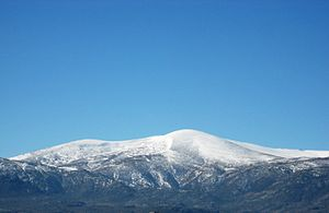 Sistema Central - View of La Serrota, 2.294 m, in Ávila Province