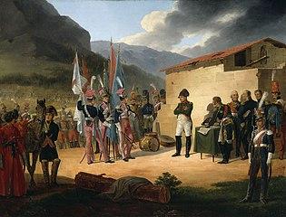 Bitwa pod Tudelą (Wincenty Krasiński składa Napoleonowi zdobyte sztandary)