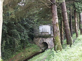 The canal tunnel in Les Cammazes