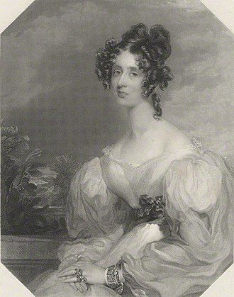 John Crocker Bulteel - Lady Elizabeth Grey (d.1880), wife of John Crocker Bulteel (1793–1843) of Fleet, engraving by Henry Bryan Hall, after William Say, published 1841; National Portrait Gallery, London, NPG D32379