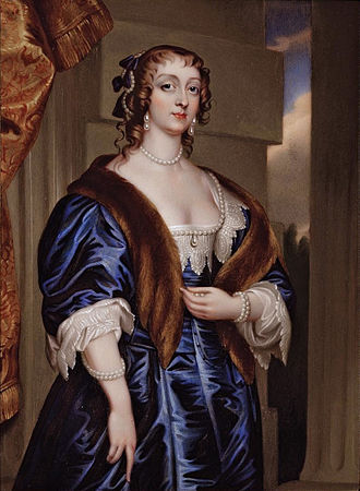 James Hamilton, 1st Duke of Hamilton - Lady Margaret (or 'Mary') Feilding, Duchess of Hamilton (Henry Pierce Bone after Anthony van Dyck)