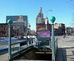 Lafayette Avenue subway station in Fort Greene.
