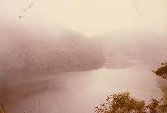 Buin, Papua New Guinea - Lake Loloru, a crater lake northeast of Buin, where south Bougainvillean people believe deceased souls live.