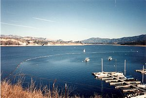Lake Cachuma - Image: Lake cachuma 1994
