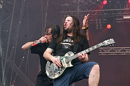 Randy Blythe en Willie Adler tijdens With Full Force 2007.