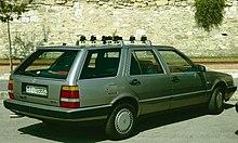Vista posteriore della station wagon