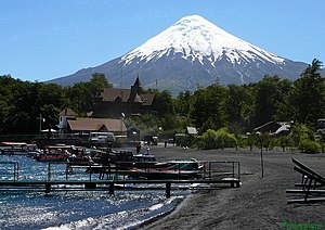 The Amazing Race 16 - In this Leg, teams traveled throughout the Los Lagos Region of Chile, known for its lakes and the Osorno volcano.