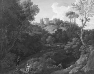 Paysage avec monastère