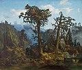 Lars Hertervig - Old Pine Trees - Gamle Furutrær - Stavanger kunstmuseum - SG.0659.jpg