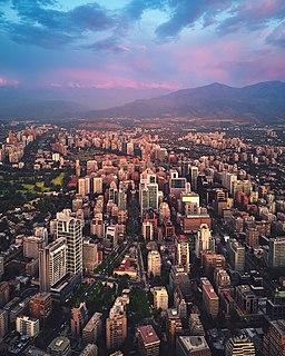 Las Condes City and Commune in Santiago Metropolitan Region, Chile