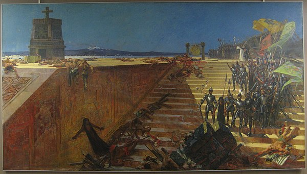The Last Days of Tenochtitlan—Conquest of Mexico (1521) by William de Leftwich Dodge, 1899.