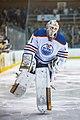 Laurent Brossoit at 2014 Edmonton Oilers Rookies vs UofA Golden Bears game (15088629490).jpg