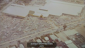 Lavington Square Shopping Centre - Photograph taken of an aerial shot of Border Shopping Town on public display at Lavington Square.