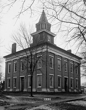 Moulton, Alabama - Lawrence County Courthouse in Moulton, March 1934