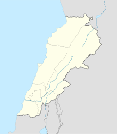 Map showing the location of Nabatieh within Lebanon