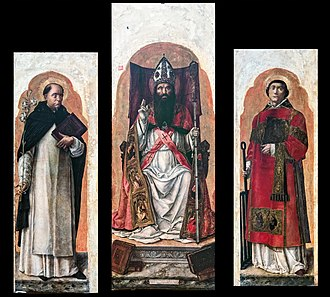 Bartolomeo Vivarini - Image: Left nave of Santi Giovanni e Paolo (Venice) Vivarini, trittico di san Zanipolo