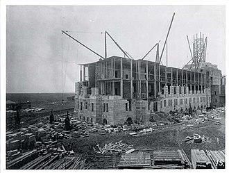 Saskatchewan Legislative Building - The Saskatchewan Legislative Building being constructed