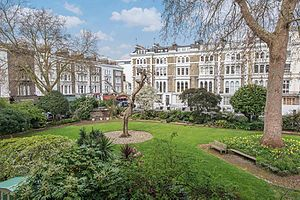Leinster Square - A view of Leinster Square from the gardens.