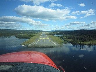 Fagernes Airport, Leirin - Image: Leirin approach