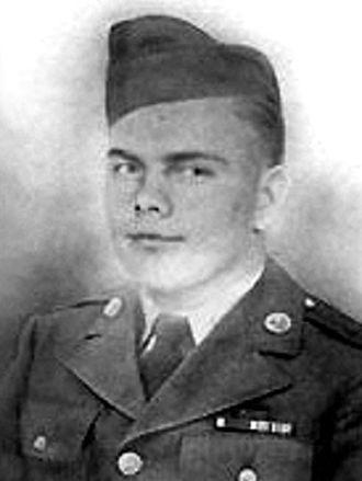 USNS Private Leonard C. Brostrom (T-AK-255) - PFC Leonard Brostrom, US Army photo released 1945.