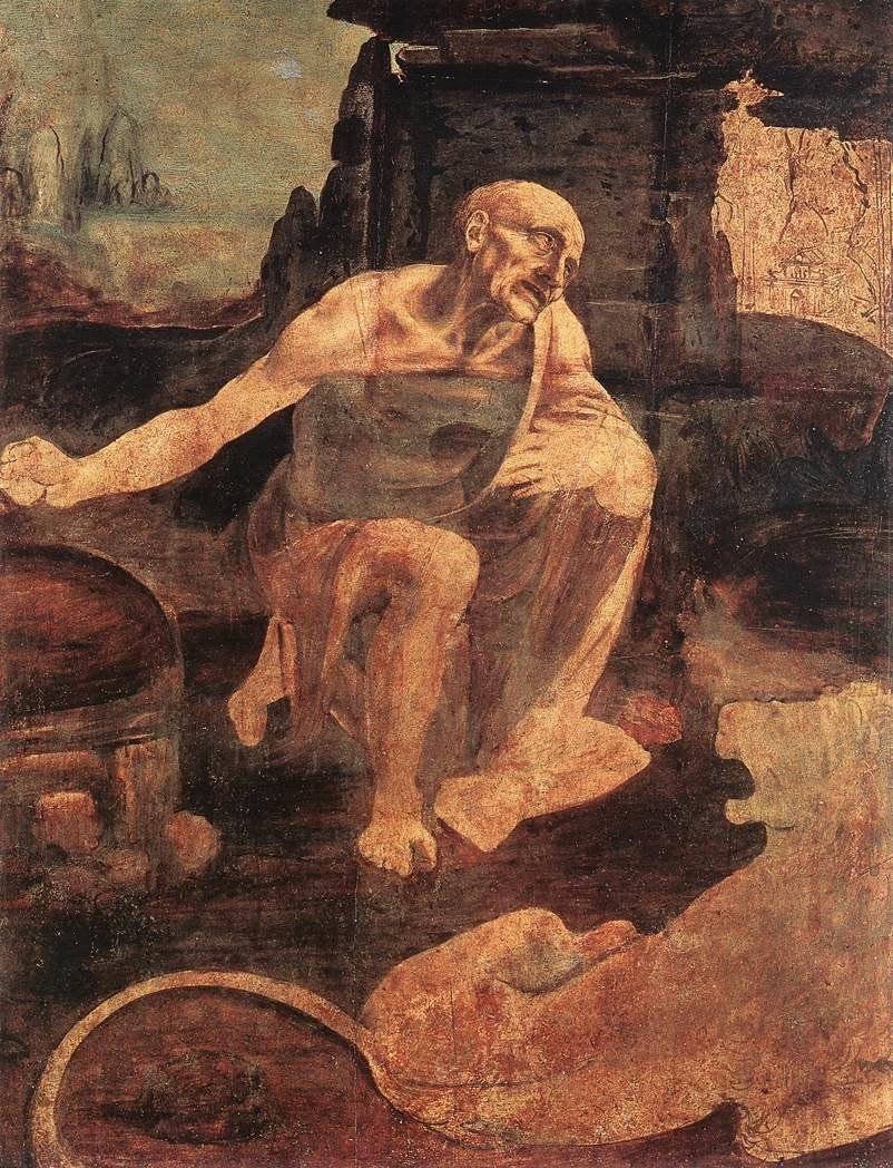 Leonardo, san girolamo