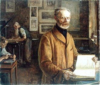 Friedrich Chrysander - Friedrich Chrysander; portrait by Leopold von Kalckreuth (1901)