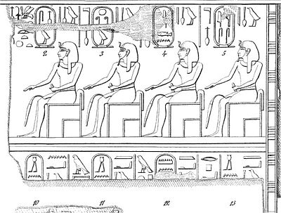 "Karnak king list showing the partial name ""Men..."" in a cartouche (No. 12). Lepsius.jpg"