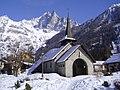 Les Praz de Chamonix (l'église).JPG
