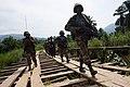 Les casques bleus Sud-africains de la Brigade d'intervention de la MONUSCO en patrouille dans la localité de Pinga, Nord Kivu (15486288567).jpg