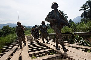 United Nations Force Intervention Brigade - South African FIB infantry in North Kivu in 2009