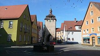 Leutershausen Place in Bavaria, Germany