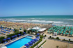 The beach of Jesolo.