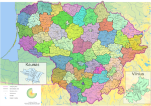 Elderships of Lithuania - Seniūnijos of Lithuania