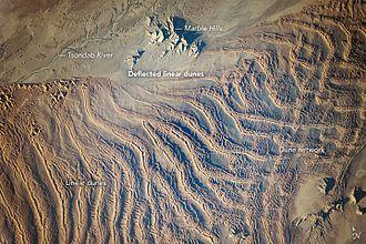 Erg (landform) - Linear Dunes, Namib Sand Sea