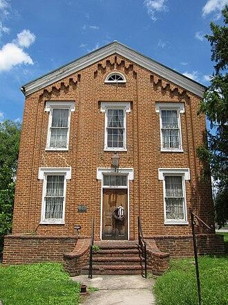 Romney Literary Society - Image: Literary Hall Romney WV 2013 07 14 03