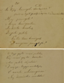 Lithuanian multipart song (sutartinė) about king Sudaitis written down by Mykolas Miežinis, ca 1849.webp